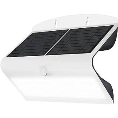Luceco LEXS80W40-01 Outdoor LED Solar Wall Light With PIR Sensor White 800lm (168GY)