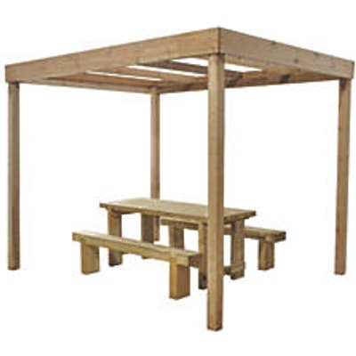 Forest Dining Pergola Natural Timber 3036 x 2436 x 2797mm (1746F)