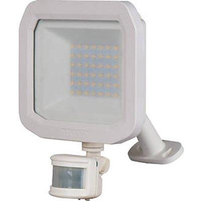 Luceco Guardian Outdoor LED Floodlight With PIR Sensor White 30W 3150lm (175KJ)