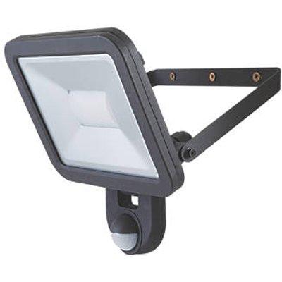 LAP Weyburn Outdoor LED Floodlight With PIR Sensor Black 30W 2400lm (180CC)