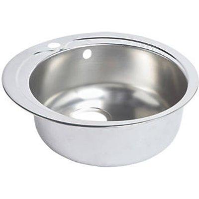 Round Kitchen Sink Stainless Steel 1 Bowl 485 x 485mm (1909K)
