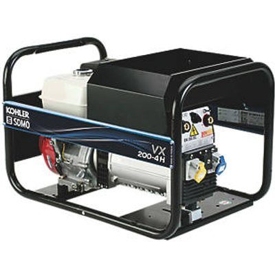 SDMO VX200/4H 4000W 200A DC Portable Generator & Welding Set 110 / 230V (2085F)