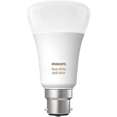 Philips Hue Ambiance Bluetooth LED A60 BC Smart Light Bulb Colour-Changing 60W 806Lm (209HY)