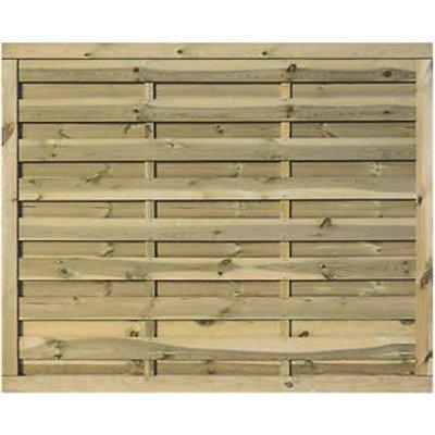 Rowlinson Gresty Double-Slatted Fence Panel 6 x 5