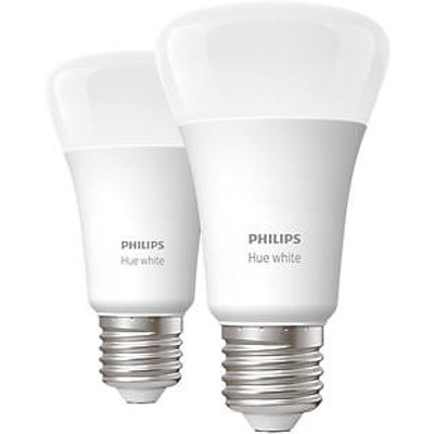 Philips Hue Bluetooth LED A60 ES Smart Light Bulb Warm White 60W 806Lm 2 Pack (218HY)
