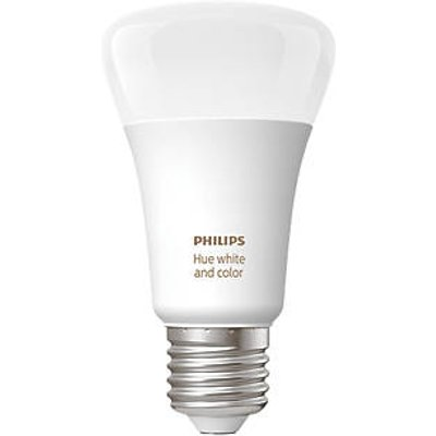 Philips Hue Ambiance Bluetooth LED A60 ES Smart Light Bulb Colour-Changing 60W 806Lm (219HY)