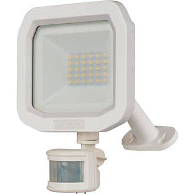 Luceco Guardian Outdoor LED Floodlight With PIR Sensor White 20W 2400lm (219KJ)