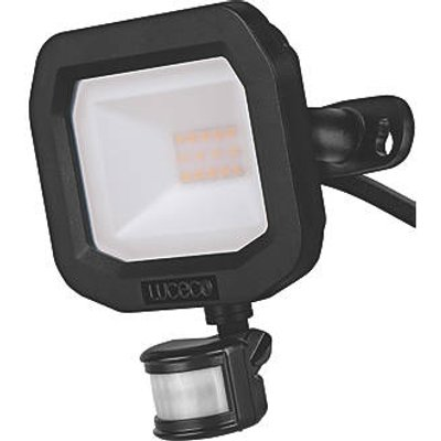 Luceco Guardian Outdoor LED Floodlight With PIR Sensor Black 10W 1050lm (221KJ)