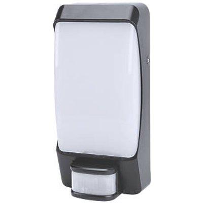 LAP AR0817-1 Square LED Bulkhead With PIR Sensor Black 12W (230KJ)