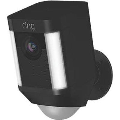 Ring 8SB1S7-BEU0 Battery-Powered Black Wireless 1080p Outdoor Camera with Spotlight with PIR Sensor (245GX)