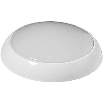 Robus Golf Slim Indoor & Outdoor Round LED Bulkhead With Microwave Sensor White 10W 830 / 900 / 910lm (257KJ)