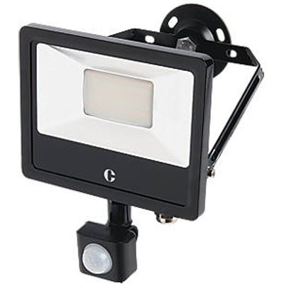 Collingwood  Outdoor LED Floodlight With PIR Sensor Black 20W Up to 2400lm (276KJ)