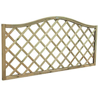 Forest Hamburg Screen Lattice Curved Top Fence Panel 6 x 3