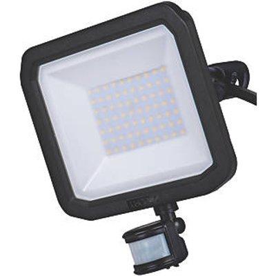 Luceco Guardian Outdoor LED Floodlight With PIR Sensor Black 50W 5400lm (285KJ)