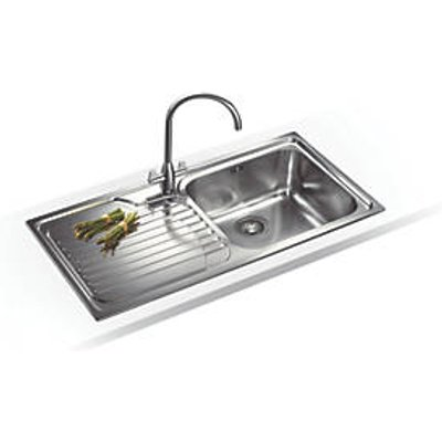 Franke Galassia Inset Kitchen Sink Stainless Steel 1 Bowl 1000 x 500mm (2883F)