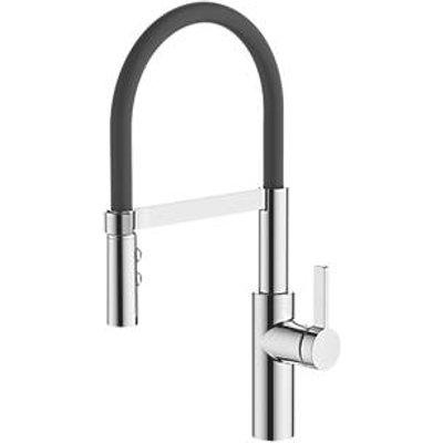 Watersmith Heritage Almeria Pull-Out Spray Mono Mixer Kitchen Tap Chrome (2962P)