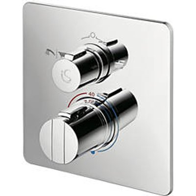 Ideal Standard Concept Easybox Concealed Thermostatic Bath & Shower Mixer Valve Fixed Chrome (2964H)