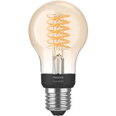 Philips Hue LED Decorative ES Virtual Filament Smart Bulb Warm White 7W 550Lm (299JF)