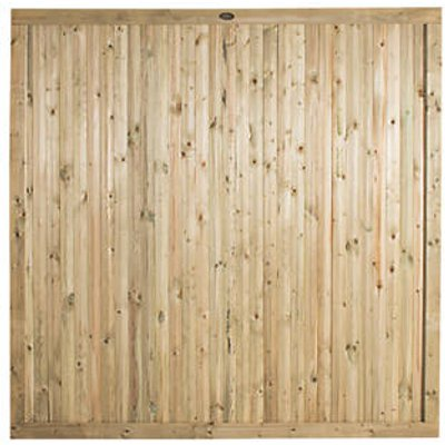 Forest Decibel Vertical Tongue & Groove  Noise Reduction Fence Panels 6 x 6