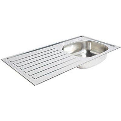 Kitchen Sink & Left-Hand Drainer Stainless Steel 1 Bowl 940 x 490mm (3151K)