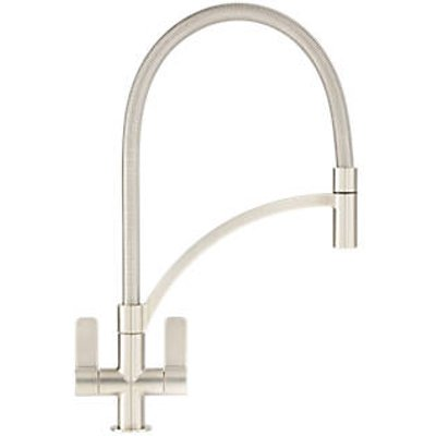 Franke Wave 115.0277.035 Pull-Out Mono Mixer Kitchen Tap Brushed Steel (3164F)