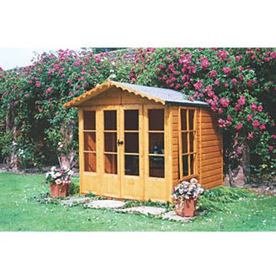 Shire Kensington Shiplap Summerhouse Assembly Included 2.05 x 1.98m (32743)