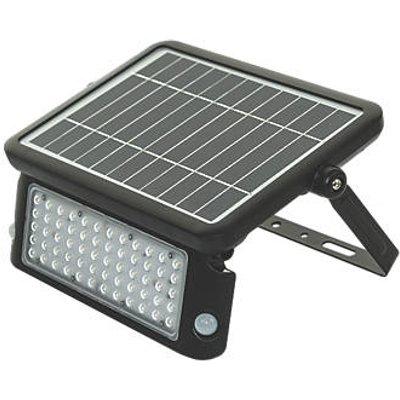 Luceco LEXSF11B40 Outdoor LED High Power Solar Floodlight With PIR & Photocell Sensor Black 1080lm (346FY)