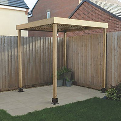 Forest  Pergola with No Sides Natural Timber 1970 x 1970 x 2045mm (352KT)