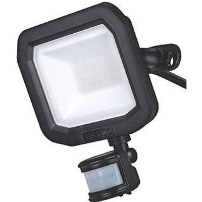 Luceco Guardian Outdoor LED Floodlight With PIR Sensor Black 20W 2200lm (357KJ)