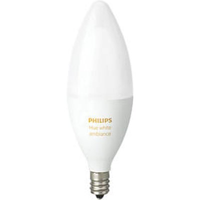 Philips Hue Ambiance LED Candle SES Smart Candle Light Bulb Variable White 6W 450Lm (3670V)