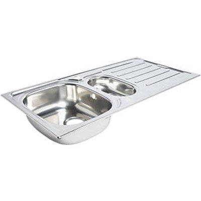 Kitchen Sink & Drainer Stainless Steel 1.5 Bowl 1000 x 500mm (3722K)