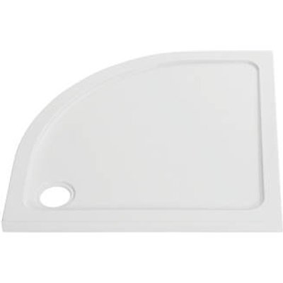 The Shower Tray Company Offset Quadrant Low Profile Shower Tray RH Gloss White 900 x 760 x 45mm (373JF)