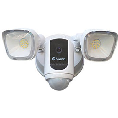 Swann SWWHD-FLOCAMW-EU White Wired 1080p Indoor & Outdoor Smart Security System with Floodlight with PIR Sensor (384HF)