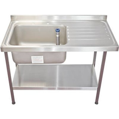Franke Midi Catering Sink Stainless Steel 1 Bowl 1200 x 650mm (3853G)