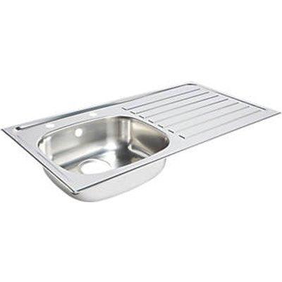 Kitchen Sink & Right-Hand Drainer Stainless Steel 1 Bowl 940 x 490mm (3958K)