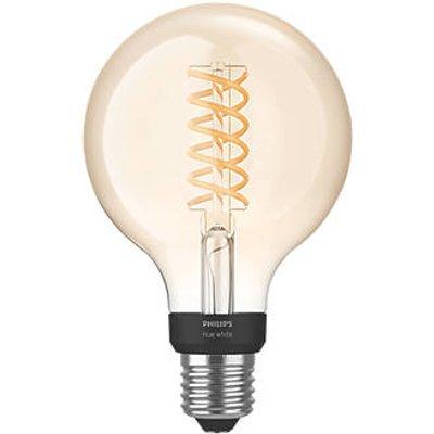 Philips Hue LED Globe ES Virtual Filament Smart Bulb Warm White 7W 550Lm (396JF)