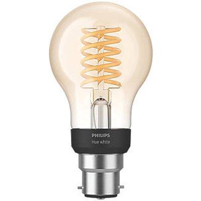 Philips Hue LED Decorative BC Virtual Filament Smart Bulb Warm White 7W 550Lm (397JF)