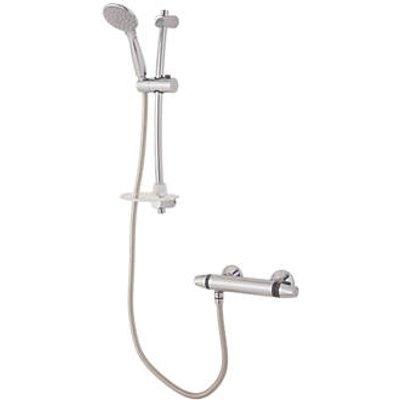 Triton Caroli Rear-Fed Exposed Chrome Thermostatic Mixer Shower (4034T)