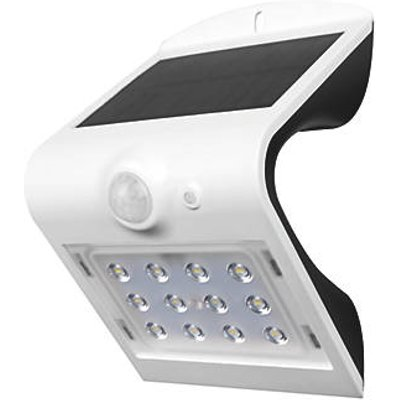 Luceco LEXS30W30-01 Outdoor LED Solar Wall Light With PIR Sensor White 220lm (403HG)
