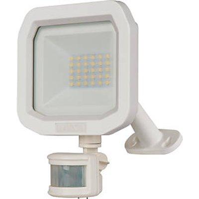 Luceco Guardian Outdoor LED Floodlight With PIR Sensor White 10W 1200lm (403KJ)