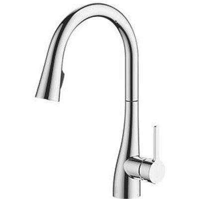 Watersmith Heritage Oxford Pull-Out Spray Mono Mixer Kitchen Tap Chrome (4065P)