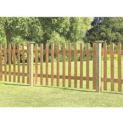 Forest Pale Picket Fence Panels 6 x 3