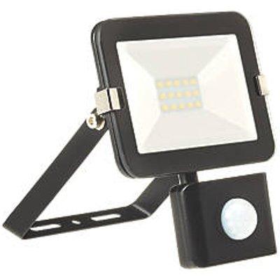 Brackenheath iSpot Outdoor LED Slim Floodlight With PIR Sensor Black 10W 900lm (430FH)