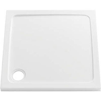 The Shower Tray Company Square Low Profile Shower Tray Gloss White 760 x 760 x 45mm (439JF)
