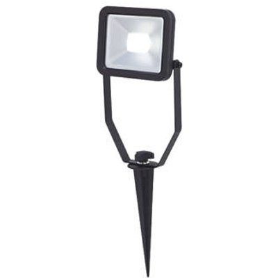 LAP  Outdoor LED LED Spike Floodlight Black Matt 10W 800lm (454FH)