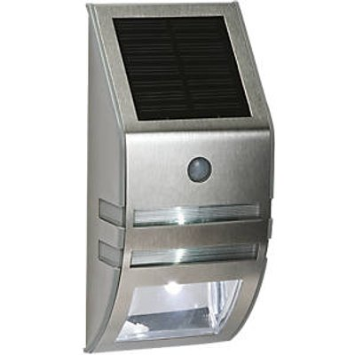 LAP  Outdoor LED Solar Powered Bulkhead With PIR Sensor Silver 40lm (45568)