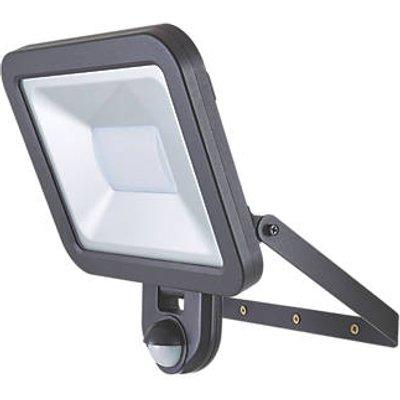 LAP Weyburn Outdoor LED Floodlight With PIR Sensor Black 50W 4000lm (458CC)