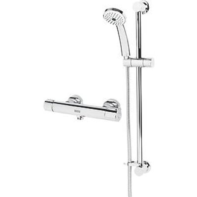 Bristan Arcus Cool Touch Rear-Fed Exposed Chrome Thermostatic Bar Mixer Shower with Adjustable Riser (491JK)