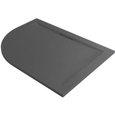 Mira Flight Level Offset Quadrant Shower Tray RH Slate Grey 1200 x 900 x 25mm (496PJ)