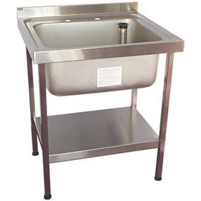 Franke Midi Catering Sink Stainless Steel 1 Bowl 750 x 650mm (4978G)